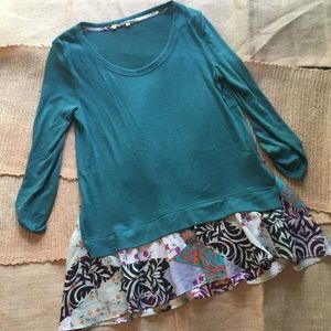 Anthropologie Layer Tunic Blouse M